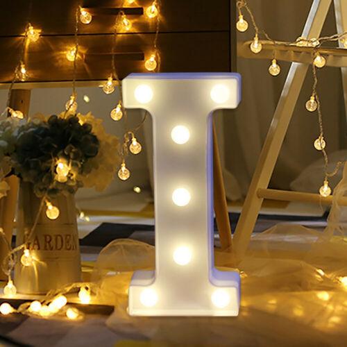 Alphabet LED Letter Lights Light Up White Plastic Letters Standing Hanging A-Z