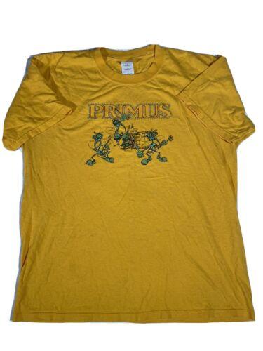 Vintage Men's Primus Yellow T Shirt Size Large 200