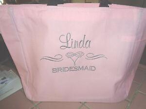 Bridal Beautiful Wedding Gift Bride Bag Shower Tote Monogram Bridesmaid Scroll 1 KT3F1Jcl