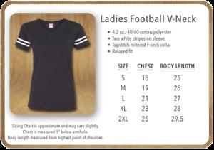 3537 SS LAT-Football féminin col V fine Jersey Tee