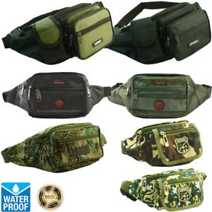 Unisex WATERPROOF Fanny Pack Travel Camo Pouch Waist Shoulder Hip Belt Bag