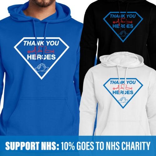 Je vous remercie NHS héros Hoody NHS Super Hero /& Key travailleurs 10/% des ventes va au NHS