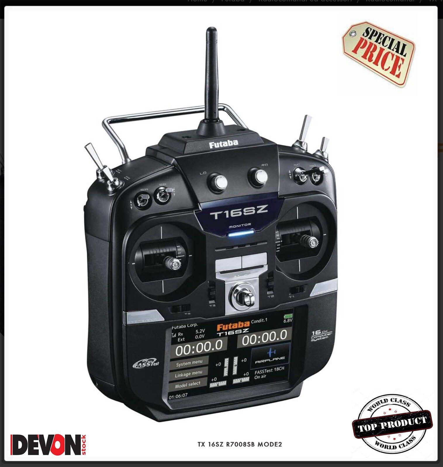 Radiocouomodo rc Futaba 16SZ R7008SB MODE  2 Elicottero Elettrico radio ricevente  migliore vendita
