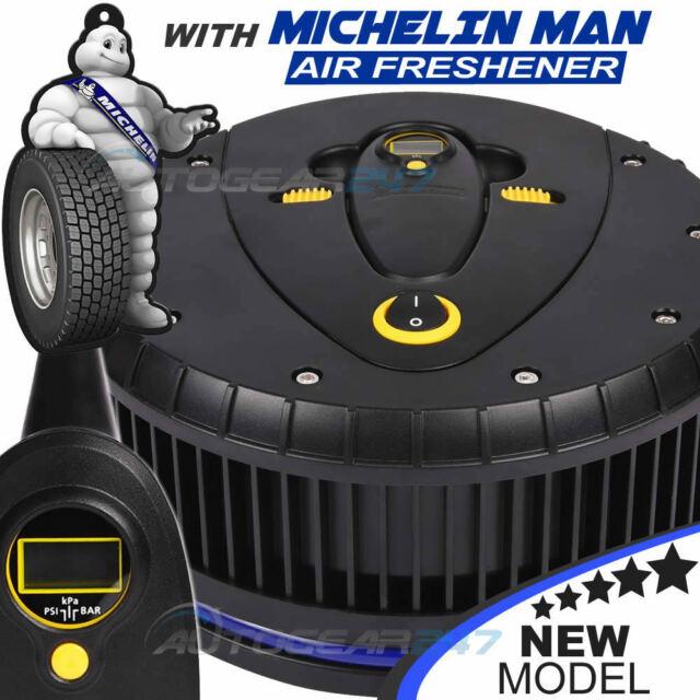 Air Compressors Michelin 12260 12v Car Tyre Air Compressor Inflator & Detachable Pressure Gauge Automotive Tools & Supplies