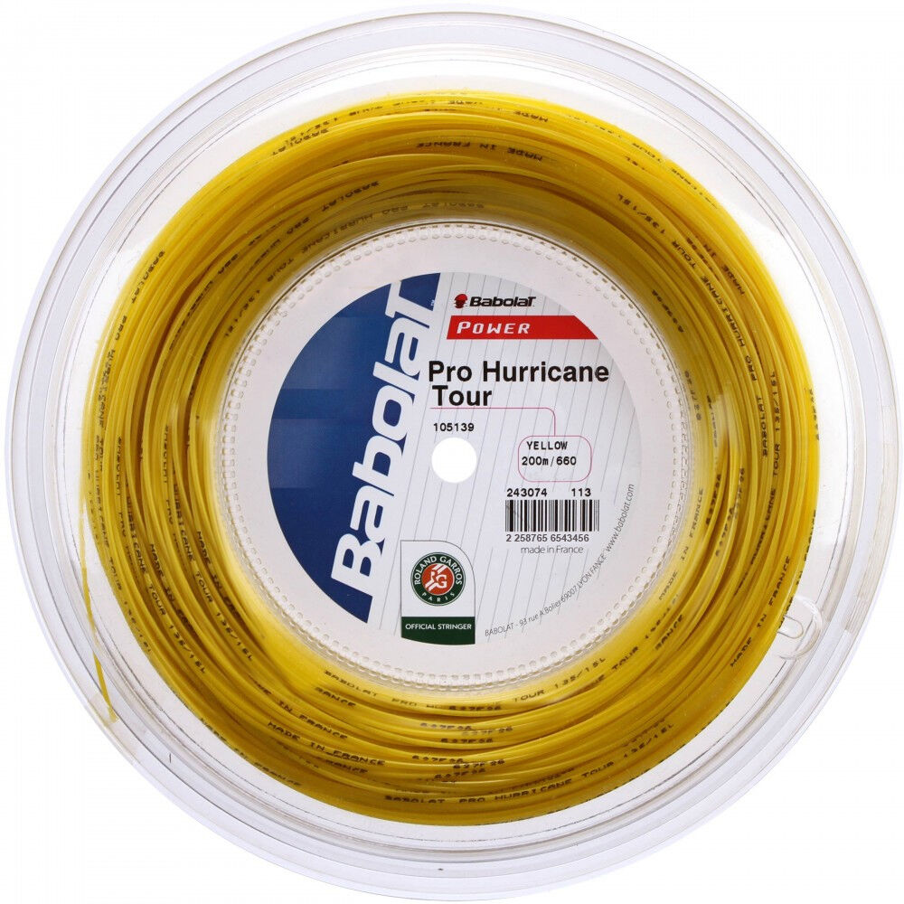 Babolat - Pro Hurricane Tour - 200m - gelb - Tennissaite