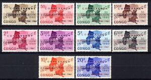 Republique-du-Congo-420-429-Coquilhatville-1961-MNH