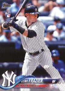 Clint-Frazier-2018-Topps-Baseball-Series-1-Rookie-RC-Card-7-Yankees-HOT
