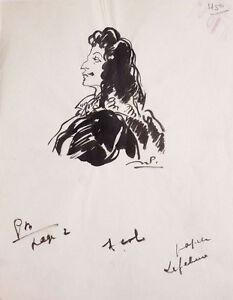 Comedien-LEFEBURE-Dessin-original-de-julien-PAVIL-1897-1952