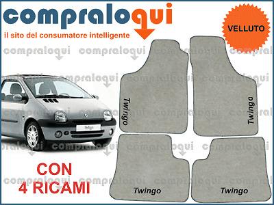 Peugeot 307 Tappeti Tappetini Auto in VELLUTO e 4Ricami