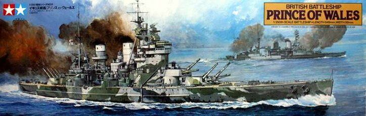 British Battleship Prince of 1/350 Wales Kit scala 1/350 of 78011 Tamiya a53e17