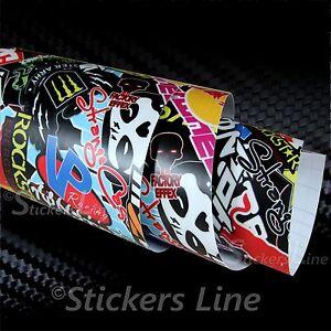 Pellicola-adesiva-STICKERS-BOMB-M1-car-wrapping-auto-moto-conformabile-no-bolle