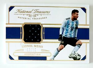 Messi Soccer Card Panini National Tresaures Patch /10.minor Damage.LOOK PHOTO!!