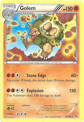 rare Pokemon Card - NM//Mint GOLEM XY Flashfire 47//106