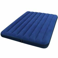 Full Size Air Mattress Intex Raised Downy Airbed Bed Inflatable Blow Up Pump NEW