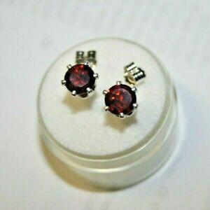 Genuine-earth-mined-garnet-earring-studs-in-sterling-silver-6-mm-gems