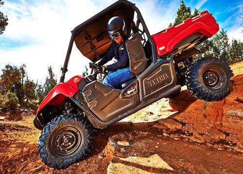 Set 4 2 Seat Wolverine R-Spec Red Skull Shock Covers Yamaha Viking 700 EPS