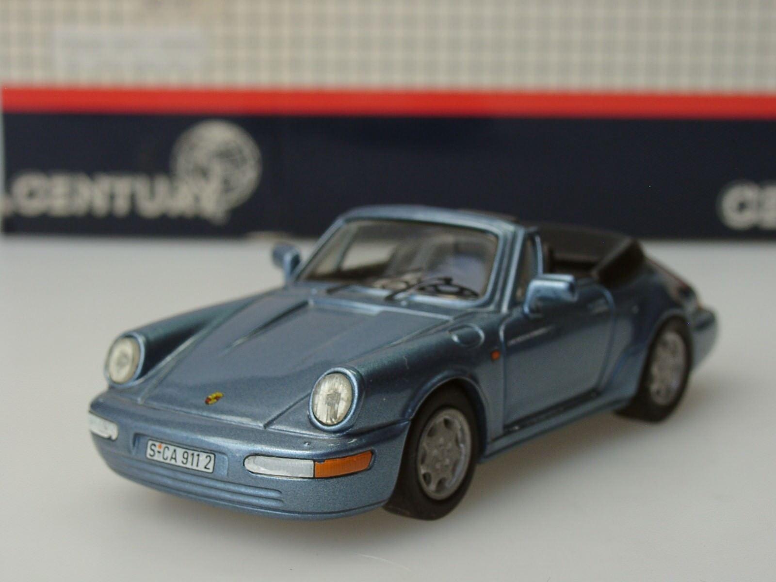 Century Porsche voiturerera 4 Cabrio, 1989, hellblau met. - 2001 - Metall 1 43, alt