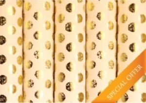 Image Is Loading Gold Polka Crush Dot Handmade Birthday Gift Wrapping