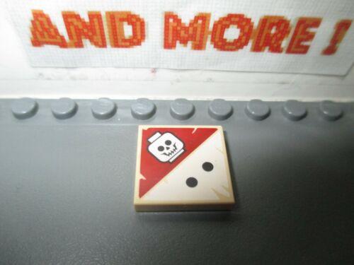 1x Tile Decorated Plaque Lisse 2x2 2 Black Dots Skull Pattern 3068bpb0418 Lego