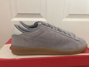 the best attitude a2eea 56c37 Image is loading NIKE-TENNIS-CLASSIC-COURT-SUEDE-STEALTH-GREY-PURE-