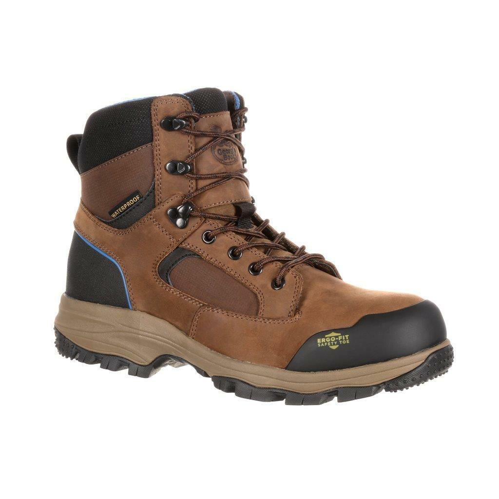 NEW GEORGIA bluee Collar Composite Toe Waterproof Work Hiker  GB00108 NIB