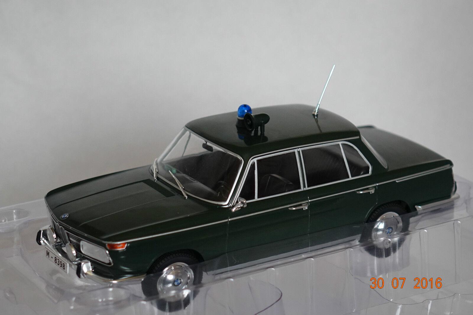 BMW 2000 TI (Type120) Polizei dunkelgrün 1 18 MCG neu & OVP MCG18042