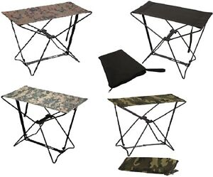 Camo Amp Black Lightweight Portable Chair Folding Camp Stool