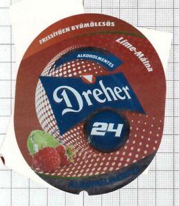 HUNGARY-Dreher-Sorgyarak-Budapest-DREHER-Lime-Malna-beer-label-C2240-068