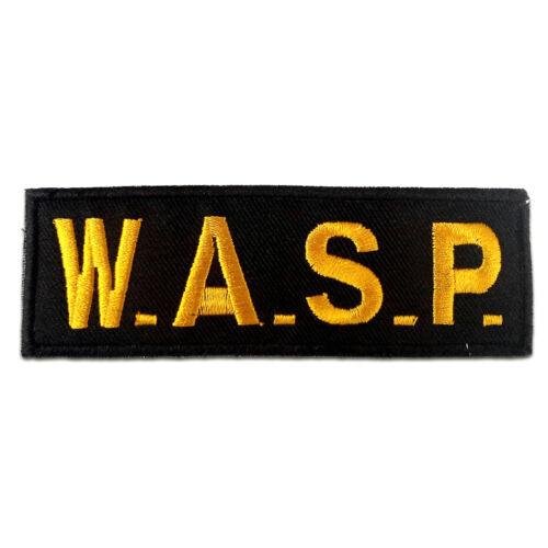 Aufnäher // Bügelbild gelb 11.7 x 4.0 cm Patches Aufbügeln W.A.S.P logo