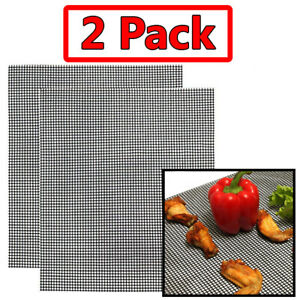 Grill-Mat-Barbecue-Maille-5-pcs-Antiadhesif-Teflon-Cuisine-Cuisson-Feuille-Liner-Poisson-NEUF