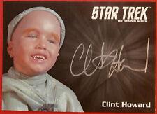 STAR TREK TOS 50th, CLINT HOWARD as Balok, VERY LIMITED (SILVER) Autograph Card
