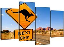 Australia Ayers Rock Kangaroo Canvas Wall Art Pictures XL Prints 4083