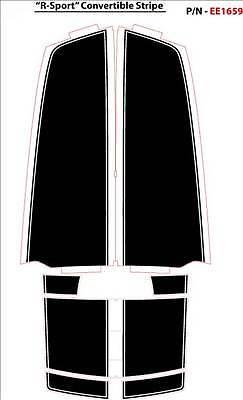 Racing Stripes Decal Graphic 3M Premium Vinyl for 2011-2013 Camaro Convertible