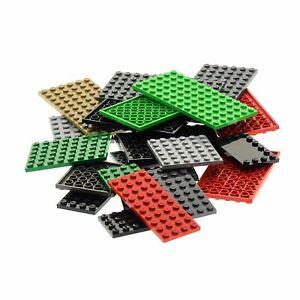 25-x-Lego-System-Bau-Platten-Basic-verschiedene-Farben-Form-zufaellig-gemischt
