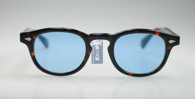 8aeef218ac5 49mm Retro Vintage Johnny Depp sunglasses men tortoise shell eyeglass Blue  lens
