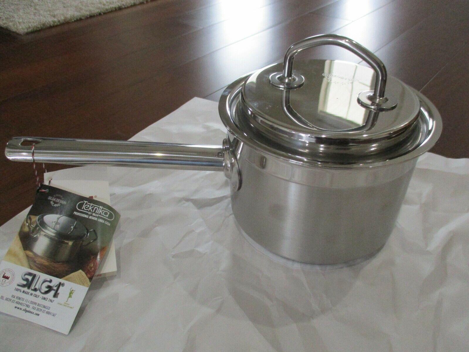 Buckingham Deep Induction Stainless Steel Saucepan W// Glass Lid 18cm 2.8L