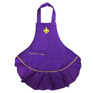 Purple-Fluer-De-Lis-Apron-Rockpoint-Lady-Cajun-Apron