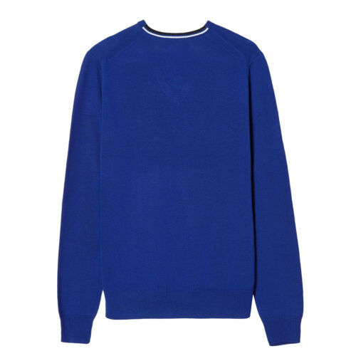 139 Perry blauwe sweater K7210 Heren v Trui hals getrapte sweater Klassiek met Fred Tq7awa