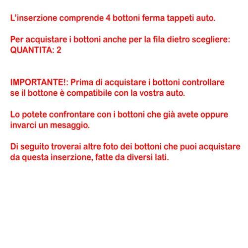 NISSAN Bottoni Fissaggio CLIP BLOCK Tappi per Tappetini AUTO RENAULT