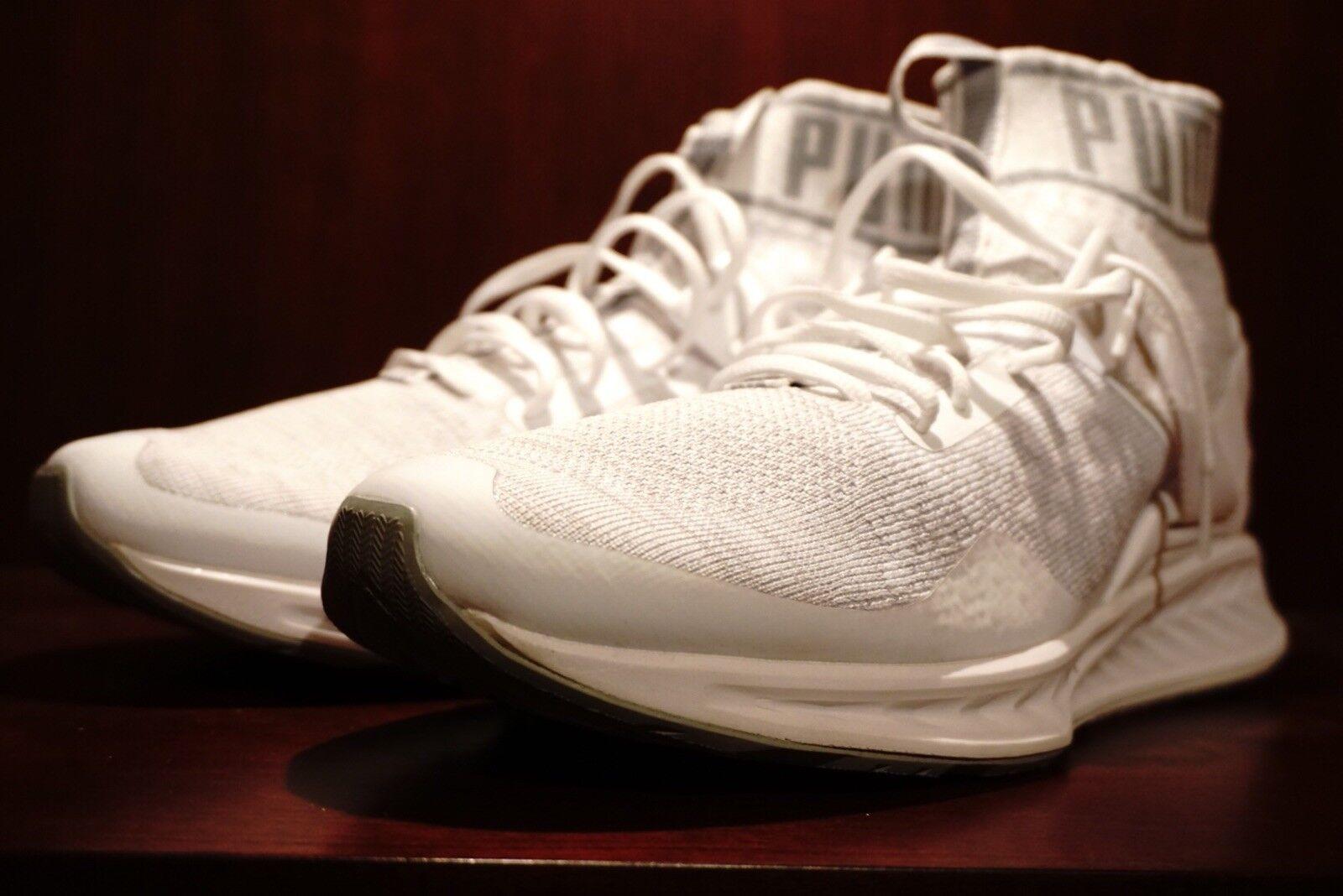 Puma IGNITE EVOKNIT White - Mens. Comfortable Wild casual shoes
