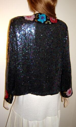 Creations Evening S Silk Floral Iridescent front Judith Sequined Ann Åben Jacket pUqx5AT