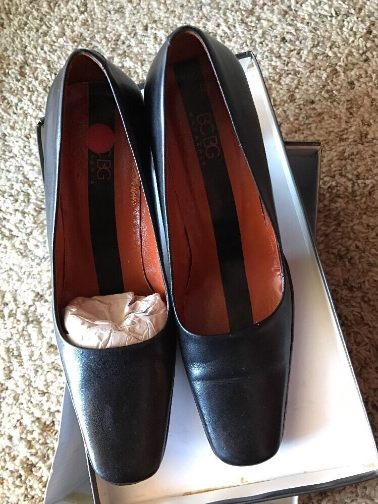 BCBG MAX AZRIA Schuhes BLACK CALF 8M  NEU WITH BOX
