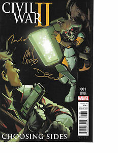 Civil-War-II-Choosing-Sides-1-NOTO-VARIANT-signed-x3-Noto-Shavley-Bellaire-NM