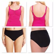 c993623505eb4 item 3 Profile by Gottex Rose Ruched Top & Black Bottom Tankini 2Pc Set ~12/10~NWT $176 -Profile by Gottex Rose Ruched Top & Black Bottom Tankini  2Pc ...