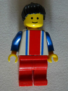 Lego-Freestyle-Minifig-Vertical-Lines-Red-amp-Blue-Blue-Arms-Red-Legs-Bla