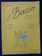 SPARTITO MUSICALE - VALZER - IL BACIO - ARDITI - 1951