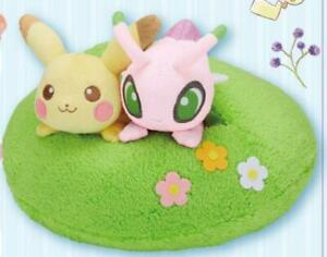 Pokemon-Ichiban-Kuji-Last-One-Prize-Pikachu-amp-Celebi-Plush-Toy-Japan-F-S-New
