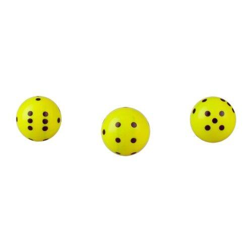 21mm Würfel neon rund gelb