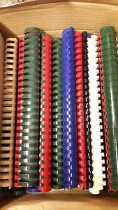 schwarz 21 Ringe 6mm 100 Plastikbinderücken US-Tlg