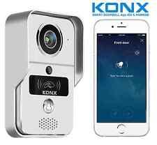 KONX® KW02C Interphone Portier Video 720p IP+Wifi+Relais porte+RFID+Full Duplex
